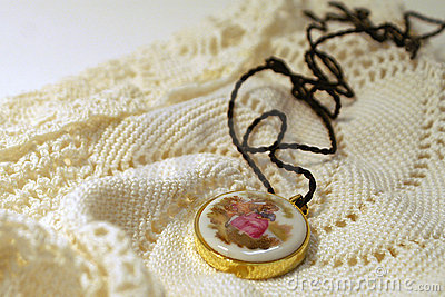 Old Fashioned Pendant On Lace