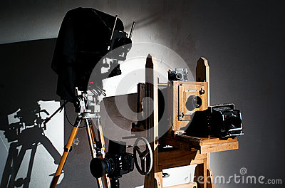 Old-fashioned photo equipment