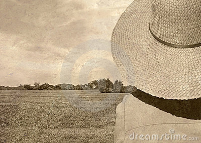 Old fashioned Photo of Field