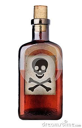 Free Old Fashioned Poison Bottle. Stock Image - 16256231