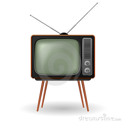 Old-fashioned retro TV