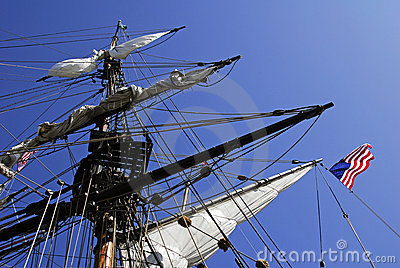 Old fashioned sailing ship