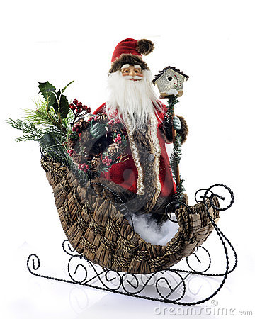 Old Fashioned Santa in Sleigh