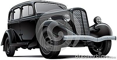 Old fashioned Soviet car Vector Illustration