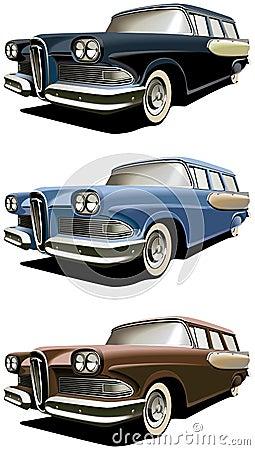 Old-fashioned station wagon