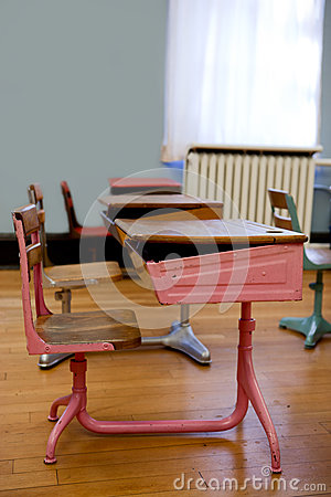 Old Fashioned Student Desks