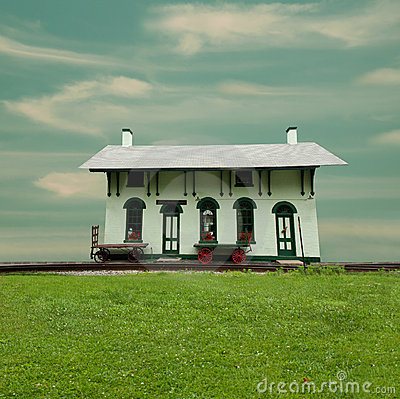 Old fashioned train station