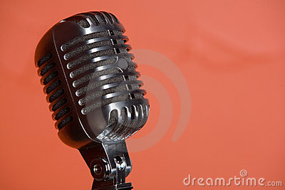 Old fashioned vintage microphone