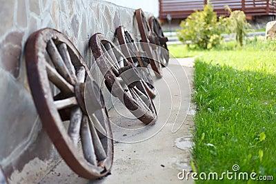 Old-fashioned wagon wheels