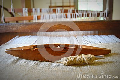 Old Fashioned Weaving Loom