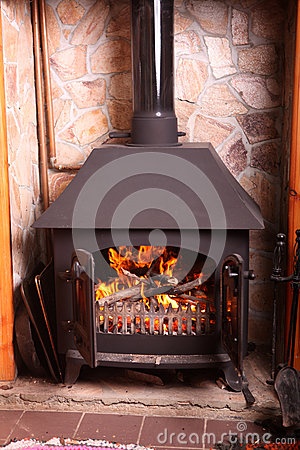 Old Fashioned Wood Burning Stove Stock Photo Image 35269790