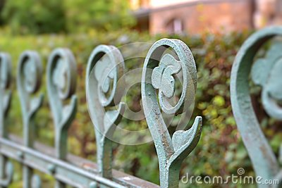 An old fence in Karlovy Vary