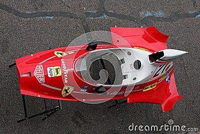 Old Ferrari Body Editorial Stock Photo