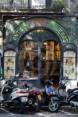 Old Figueras House Rambla Barcelona Spain Editorial Photography