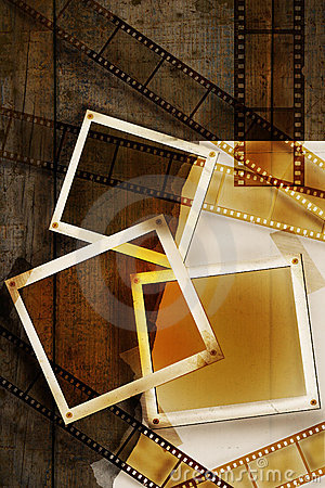 Free Old Film And Photos On Distressed Wood Panels Royalty Free Stock Image - 6334576