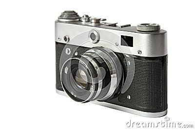 Old film rangefinder camera