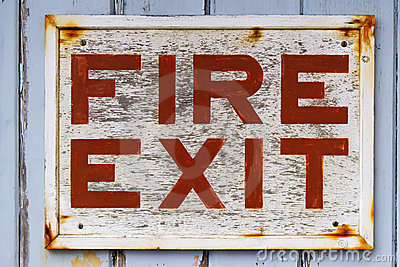 Old Fire Exit sign