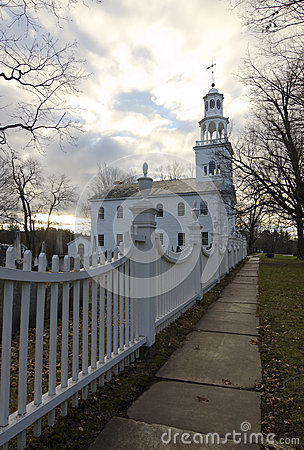 Old First Church at sunrise, Bennington, Vermont
