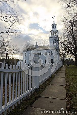 Old First Church at sunrise, Bennington, Vermont