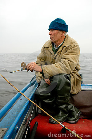 Old Fisherman Fishing