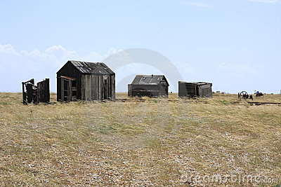 Old fishermans huts in Dungeness