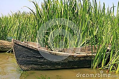 Old fishermen boat