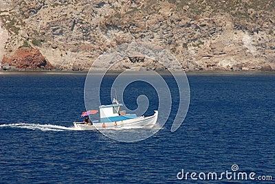 Old fishing-boat at Greece