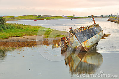 Old fishing boat in ireland