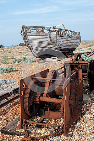 Old Fishing Boat and Winches