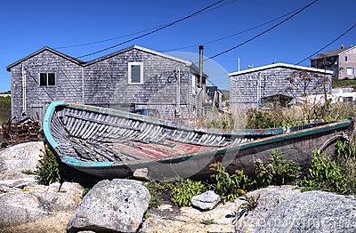 Old fishing dory, Peggy s Cove, Nova Scotia