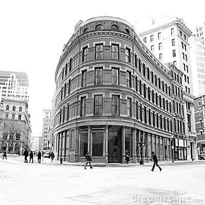 Old flat iron building