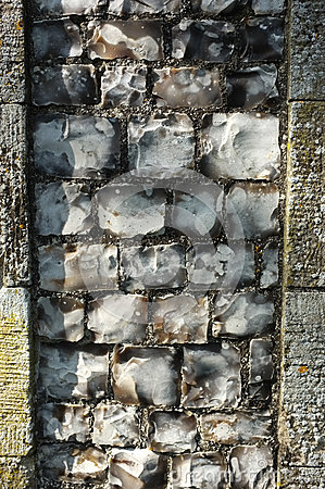 Old Flint Wall detail