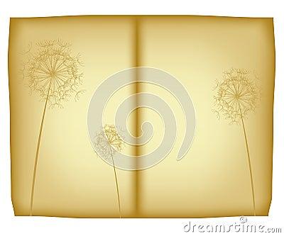 Old floral paper