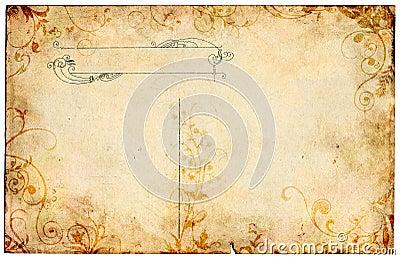 Old Floral Postcard