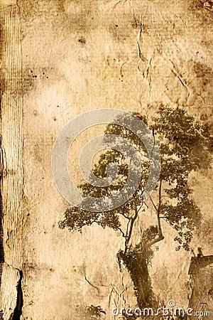 Old flower paper