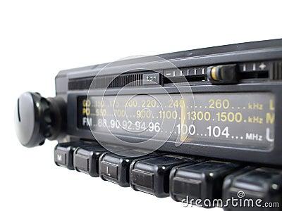 Old FM Radio Close-Up