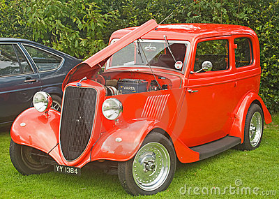 Old Ford 10 horsepower Saloon car. Editorial Stock Image