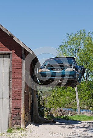 Old Ford Mustang Hanging From Garage Stock Photo Image Make Your Own Beautiful  HD Wallpapers, Images Over 1000+ [ralydesign.ml]