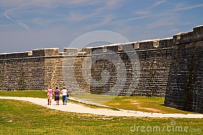 Old fort wall and dry moat