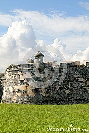 Old fort wall in Havana, Cuba.