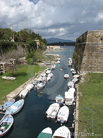 Old fortress canal in Corfu