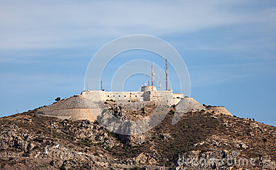 Old fortress in Cartagena, Spain