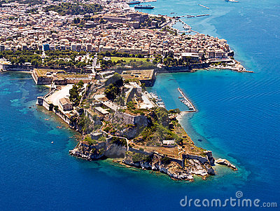 Old fortress, Corfu, aerial view