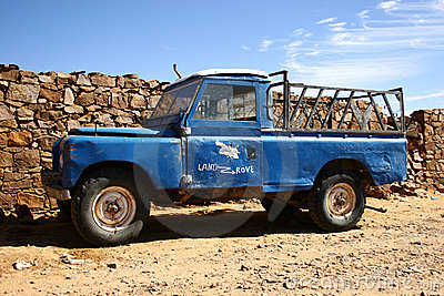 Old four wheel drive pick-up truck