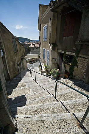 Old French town stairs