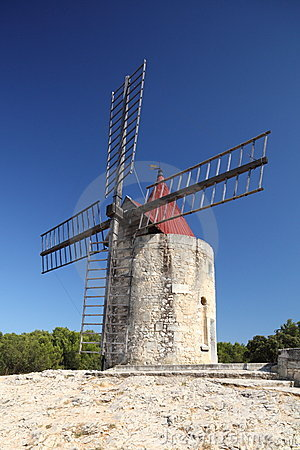 Free Old French Windmill Royalty Free Stock Photography - 10576797