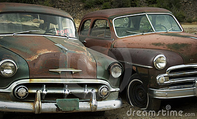 Old Friends Rusting at the Junkyard FOR SALE
