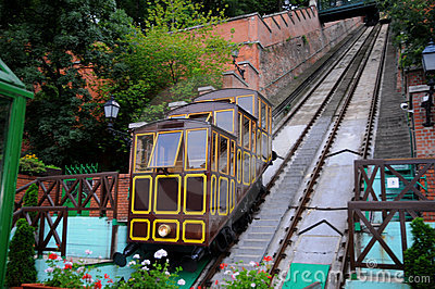 Old funicular in Budapest