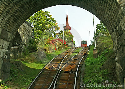 Old funicular in Stockholm