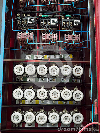 Free Old Fuse Box On The Wall Stock Photo - 42836740